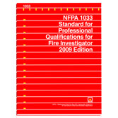 NFPA 1033: Standard for Professional Qualifications for Fire Investigator, Prior Years