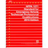 NFPA 1071: Standard for Emergency Vehicle Technician Professional Qualifications