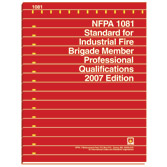 NFPA 1081: Standard for Industrial Fire Brigade Member Professional Qualifications, Prior Years