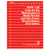 NFPA 1125: Code for the Manufacture of Model Rocket and High Power Rocket Motors