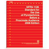 NFPA 1126: Standard for the Use of Pyrotechnics Before a Proximate Audience, Prior Years