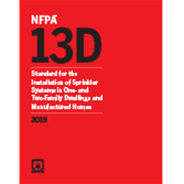 NFPA 13D, Standard for the Installation of Sprinkler Systems in One- and Two-Family Dwellings and Manufactured Homes