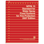 NFPA 15: Standard for Water Spray Fixed Systems for Fire Protection, 2007 - 1996