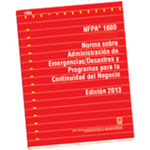 NFPA 1600®: Standard on Disaster/Emergency Management and Business Continuity Programs, Spanish