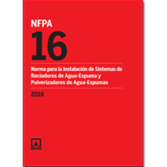 NFPA 16: Standard for the Installation of Foam-Water Sprinkler and Foam-Water Spray Systems, Spanish