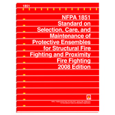 NFPA 1851: Standard on Selection, Care, and Maintenance of Protective Ensembles for Structural Fire Fighting and Proximity Fire Fighting, Prior Years