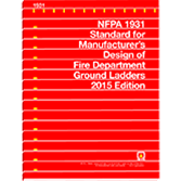 NFPA 1931: Standard for Manufacturer's Design of Fire Department Ground Ladders