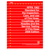 NFPA 1962: Standard for the Care, Use, Inspection, Service Testing, and Replacement of Fire Hose, Couplings, Nozzles, and Fire Hose Appliances, Prior Years