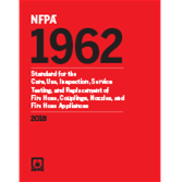 NFPA 1962: Standard for the Care, Use, Inspection, Service
