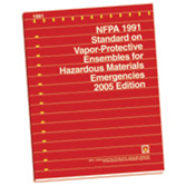 NFPA 1991: Standard on Vapor-Protective Ensembles for Hazardous Materials Emergencies