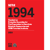 NFPA 1994: Standard on Protective Ensembles for First Responders to CBRN Terrorism Incidents