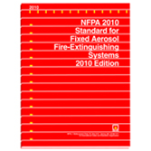 NFPA 2010: Standard for Fixed Aerosol Fire Extinguishing Systems