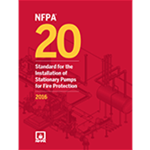 2016 NFPA 20 Standard - Current Edition
