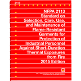 NFPA 2113: Standard on Selection, Care, Use, and Maintenance of Flame-Resistant Garments for Protect