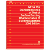 NFPA 255: Standard Method of Test of Surface Burning Characteristics of Building Materials
