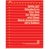 Nfpa 257 standard on fire test for window and glass block for Nfpa 99 table of contents