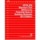 NFPA 259: Standard Test Method for Potential Heat of Building Materials