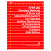 NFPA 260: Standard Methods of Tests and Classification System for Cigarette Ignition Resistance of Components of Upholstered Furniture, Prior Years