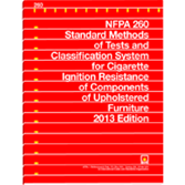NFPA 260: Standard Methods of Tests and Classification System for Cigarette Ignition Resistance of C