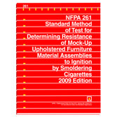 NFPA 261: Standard Method of Test for Determining Resistance of Mock-Up Upholstered Furniture Material Assemblies to Ignition by Smoldering Cigarettes, Prior Years
