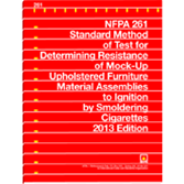 NFPA 261: Standard Method of Test for Determining Resistance of Mock-Up Upholstered Furniture Materi