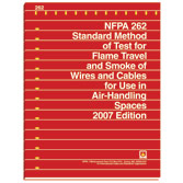 NFPA 262: Standard Method of Test for Flame Travel and Smoke of Wires and Cables for Use in Air-Handling Spaces, Prior Years