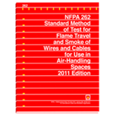 NFPA 262: Standard Method of Test for Flame Travel and Smoke of Wires and Cables for Use in Air-Hand