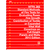 NFPA 265: Standard Methods of Fire Tests for Evaluating Room Fire Growth Contribution of Textile or