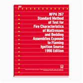 NFPA 267: Standard Method of Test for Fire Characteristics of Mattresses and Bedding Assemblies Exposed to Flaming Ignition Source