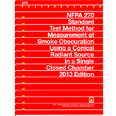 NFPA 270: Standard Test Method for Measurement of Smoke Obscuration Using a Conical Radiant Source i