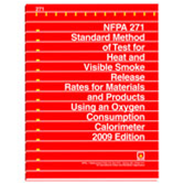 NFPA 271: Standard Method of Test for Heat and Visible Smoke Release Rates for Materials and Product