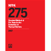 NFPA 275: Standard Method of Fire Tests for the Evaluation