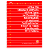 NFPA 286: Standard Methods of Fire Tests for Evaluating Contribution of Wall and Ceiling Interior Fi