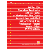 NFPA 288: Standard Methods of Fire Tests of Horizontal Fire Door Assemblies Installed in Horizontal