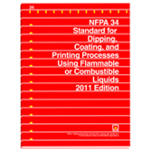 NFPA 34: Standard for Dipping and Coating Processes Using Flammable or Combustible Liquids