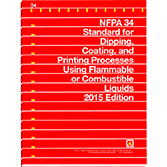 2015 NFPA 34 Standard - Current Edition