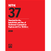 2018 NFPA 37 Standard - Current Edition