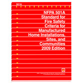 NFPA 501A: Standard for Fire Safety Criteria for Manufactured Home Installations, Sites, and Communities, Prior Years