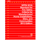 NFPA 501A: Standard for Fire Safety Criteria for Manufactured Home Installations, Sites, and Communi