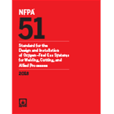 2018 NFPA 51 Standard - Current Edition