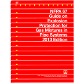 NFPA 67: Guide on Explosion Protection for Gaseous Mixtures in Pipe Systems