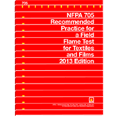 NFPA 705: Recommended Practice for a Field Flame Test for Textiles and Films