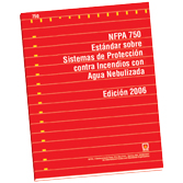 NFPA 750: Standard on Water Mist Fire Protection Systems, Spanish