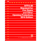 2016 NFPA 80 Standard - Current Edition
