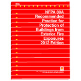 80A: Recommended Practice for Protection of Buildings from Exterior Fire Exposures