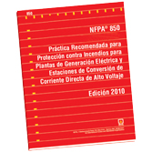 NFPA 850: Recommended Practice for Fire Protection for Electric Generating Plants