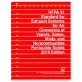 NFPA 91: Standard for Exhaust Systems for Air Conveying of Vapors, Gases, Mists, and Noncombustible Particulate Solids, Prior Years