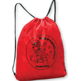 Sparky's Team Up for Fire Safety Drawstring Sports Bags