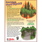 Wildfire Plan 2 Ways Out Activity Sheet