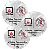 Wildfire Community Preparedness Day Stickers
